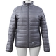 Heated Puffer Jacket with 3 Heat Settings (Size L) - 90% Duck Down And 10% Duck Feather - Silver Grey