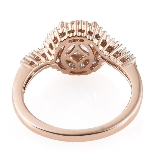 Moroppino Morganite (1.15 Ct) and Diamond 9K R Gold Ring  1.500  Ct.