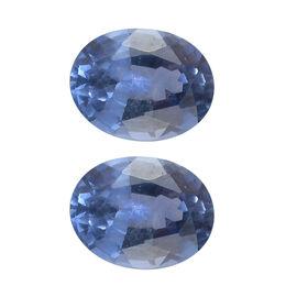 Set of 2 - AA Blue Ceylon Sapphire Oval 5x4mm - 0.80 Ct.