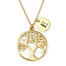 Personalised Tree of Life Necklace with 20 Inch Chain in Stainless Steel