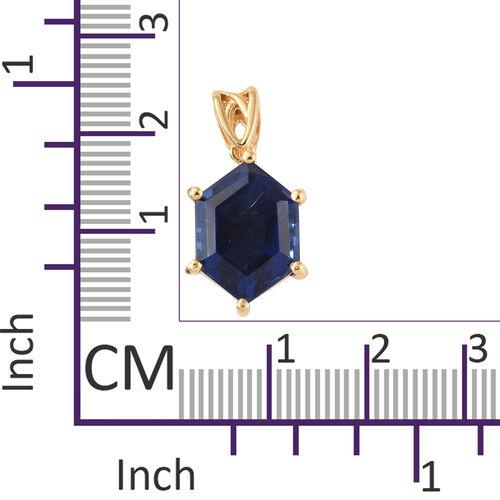Ceylon Colour Quartz Pendant in 14K Gold Overlay Sterling Silver  6.000 Ct