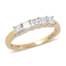 ILIANA 18K Y Gold Diamond Asscher (VS-G-H) Ring 1.000 Ct.