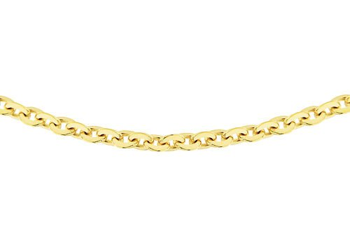 14K Gold Overlay Sterling Silver Trace Chain (Size 18)