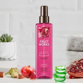 FruitWorks: Rhubarb & Pomegranate Body Mist (With Aloe Vera & Vitamin E) - 250ml