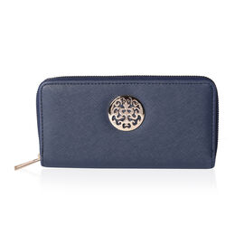 Fabulous Navy RFID Long Clutch Wallet