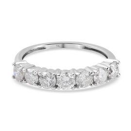 9K White Gold SGL Certified Diamond ( I3/ G-H) 7 Stone Ring 1.00 Ct