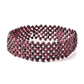 Red Garnet Stretchable Bracelet (Size 7.5) 83.00 Ct.