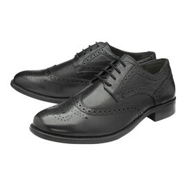 FRANK WRIGHT Rhine Leather Brogue Shoe - Black