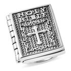 Holy Bible Ring (Size L) in Stainless Steel
