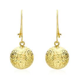 Diamond Cut Ball Drop Earrings in 9K Gold