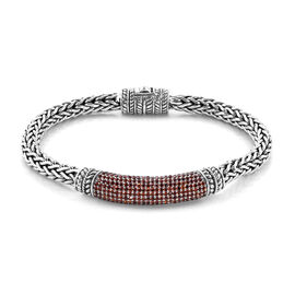 Bali Legacy 3.09 Ct Mozambique Garnet Tulang Naga Bracelet in Sterling Silver 39.30 Grams 8 Inch