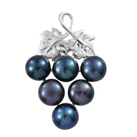 Freshwater Peacock Pearl Grapes Bunch Pendant in Sterling Silver