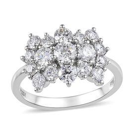RHAPSODY 950 Platinum IGI Certified Diamond (Rnd) (VS/E-F) Boat Cluster Ring 2.000 Ct.