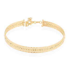 Italian Made 9K Yellow Gold Bangle (Size 7 and 1 inch Extender), Gold wt 6.25 Gms.