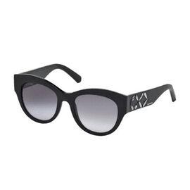 SWAROVSKI Womens Oversize Black Sunglasses With Grey Lenses