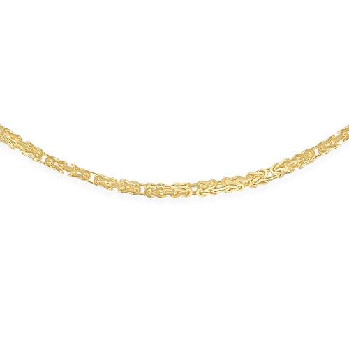 9K Yellow Gold Byzantine Chain (Size 24), Gold wt 11.90 Gms.