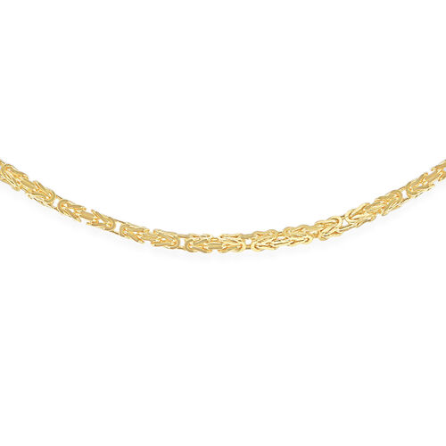 9K Yellow Gold Byzantine Chain (Size 24), Gold wt 11.90 Gms.