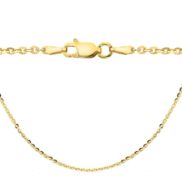 14K Gold Overlay Sterling Silver Trace Chain (Size 16)