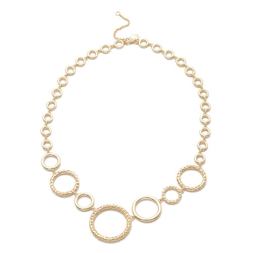 RACHEL GALLEY Allegro Collection - Yellow Gold Overlay Sterling Silver Circular Link Necklace (Size