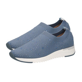 Caprice Leather Knit Embellished Trainers