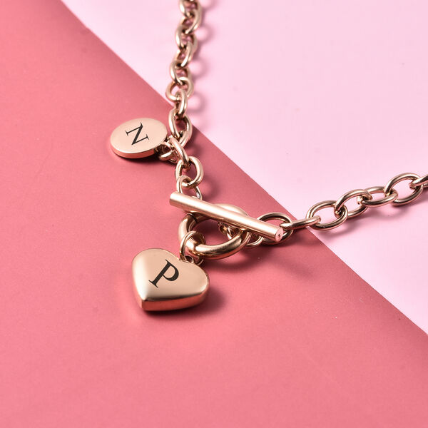 Personalised Engravable Heart Necklave, Size 18 Inch, Stainless Steel