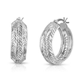 Designer Inspired- Sterling Silver Hoop Earrings (with Clasp)
