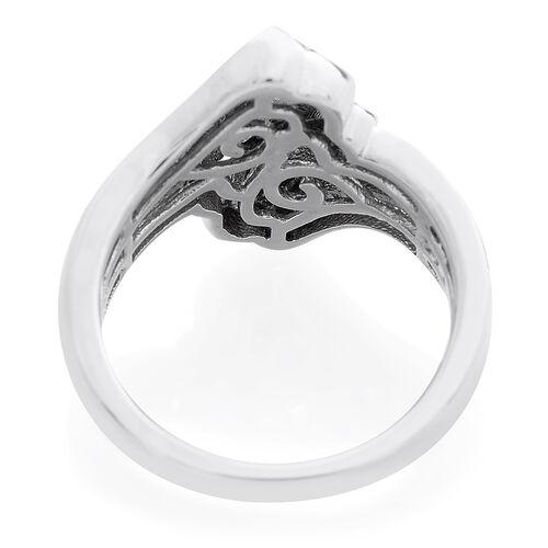 Designer Inspired - Diamond (Bgt) Ring in Platinum Overlay Sterling Silver 0.500 Ct..