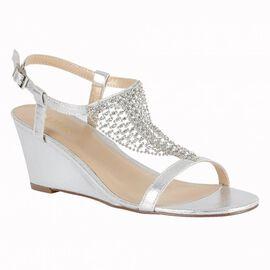 Lotus Silver Kassidy Wedge Sandals