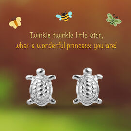 Turtle Earrings for Children in Sterling Silver