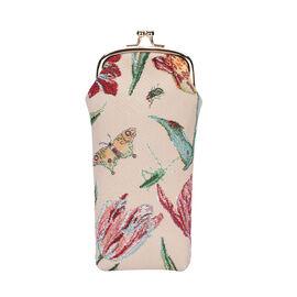 SIGNARE - Tapastry Marrels Tulip White Glasses Pouch  ( 11x20xx1cm)