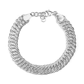 Vicenza Collection Curb Chain Bracelet in Sterling Silver 7.5 Inch