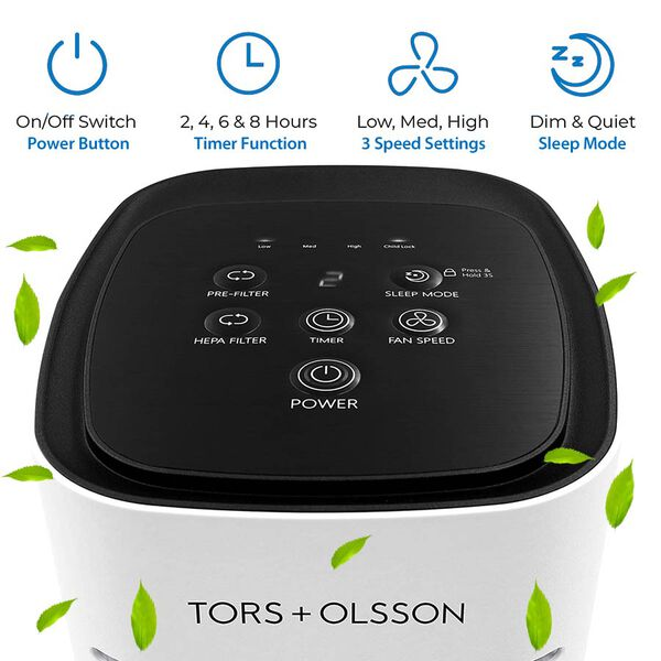Tors+Olsson T31 Air Purifier With HEPA and Carbon Filter - 17in