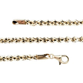 Spiga Chain Necklace in 9K Yellow Gold 9.85 Grams 17.50 Inch