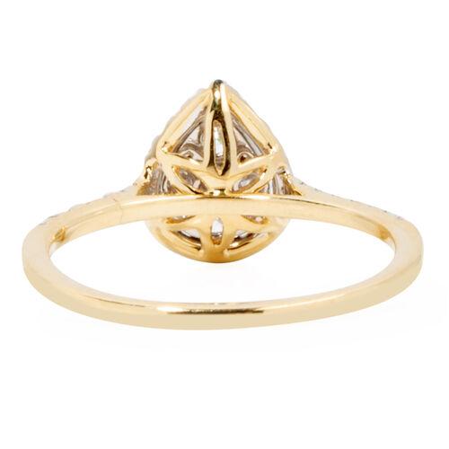 14K Yellow Gold Diamond (Rnd) (I1-I2/G-H) Ring  0.50 Ct.