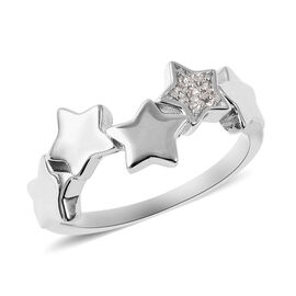 RACHEL GALLEY Natural Cambodian Zircon Stars Ring in Rhodium Overlay Sterling Silver