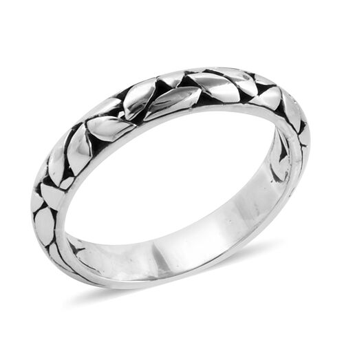 Bali Legacy Collection Sterling Silver Band Ring, Silver wt 3.50 Gms.
