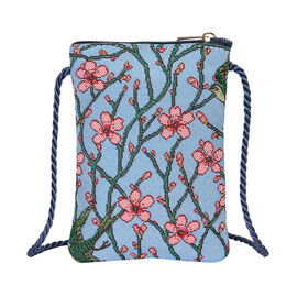 Signare Tapestry - Blossom and Swallow Smart Bag (Size 12x17x1.5 Cm)