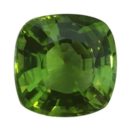 Natural Burmese AAAAA Peridot Cushion 14.5x14.5 12.85 Ct