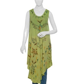 New For Season - Green and Multi Colour Flowers Pattern Apparel (Free Size)