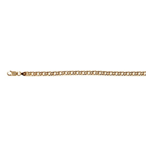 Vicenza Collection 14K Gold Overlay Sterling Silver Rombo Bracelet (Size 7.5), Silver wt 5.46 Gms.