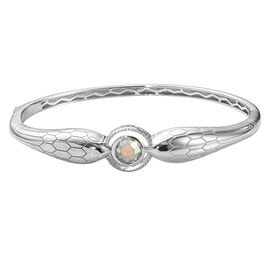 J Francis AB Colour Crystal from Swarovski Bangle in Platinum Plated 7.25 Inch