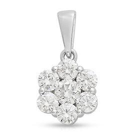 Limited Available RHAPSODY 950 W Platinum IGI Certified Diamond (Rnd) (VS/E-F) Pressure Set Pendant