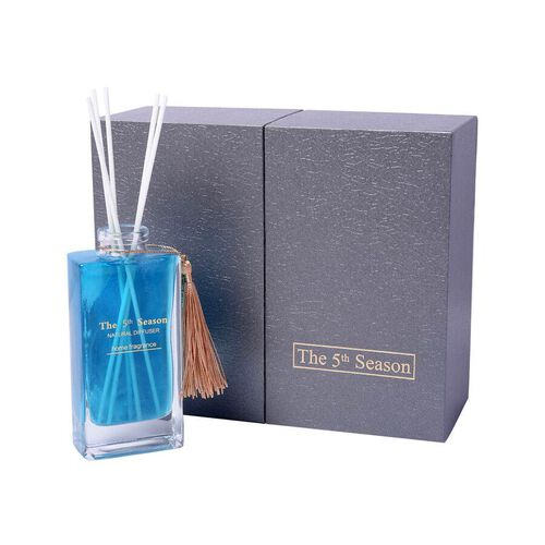 The 5th Season - 150ml Reed Diffuser Air Freshener in Gift Box with Artificial Flower - Blue (Beauti