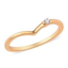 Diamond Wishbone Ring in 14K Gold Overlay Sterling Silver