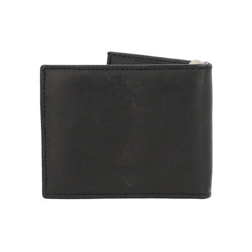 100% Genuine Leather Bi-Fold Mens Wallet (Size 10x8cm) - Black