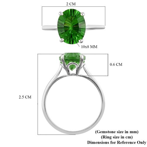 Helenite Solitaire Ring in Sterling Silver 2.00 Ct.