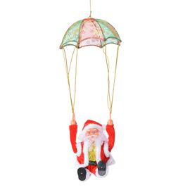 Xmas Decorations - Singing Electric Santa Claus Toys-  Parachute (Size 28x28 Cm)