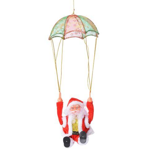 Xmas Decorations - Singing Electric Santa Claus Toys-  Parachute (Size 28x28 Cm)