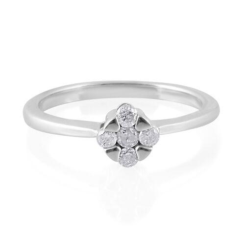 9K White Gold SGL CERTIFIED Diamond (Rnd) (I3/G-H) Ring 0.250 Ct.
