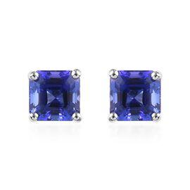 RHAPSODY 2.70 Ct AAAA Tanzanite Stud Solitaire Earrings in 950 Platinum
